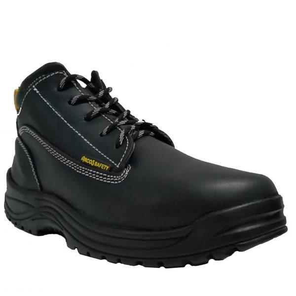 calzado de seguridad color negro marca arcos safety modelo 102