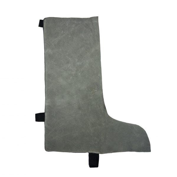 Polainas de carnaza para soldador marca arcos safety grises. Calzado de seguridad Industrial.