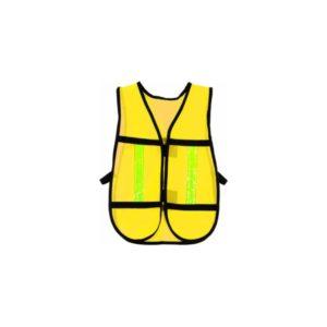 Chaleco malla con cinta reflejante color amarillo