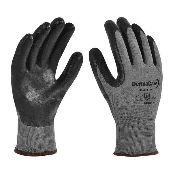 guante derma nylon gris 51-810
