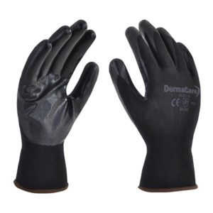 guante derma nylon negro con palma de nitrlio 51-811