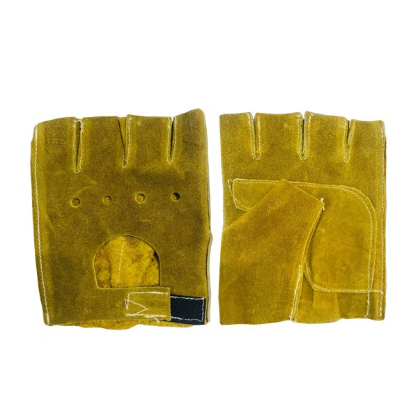 Guanteleta de carnaza, marca Arcos Safety, color amarillo