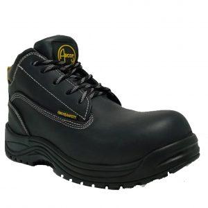 Calzado de seguridad industrial tipo borceguí con casquillo marca arcos safety modelo 105 negro
