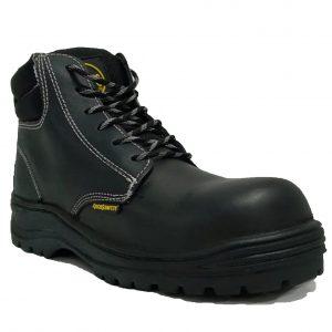 Calzado de seguridad industrial borcegui, marca Arcos Safety, modelo Beta Negro, color negro