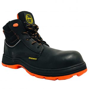 Calzado de seguridad industrial tipo borceguí con casquillo marca arcos safety modelo orión