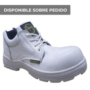 calzado de seguridad con casquillo tipo choclo marca arcos safety modelo beta blanco