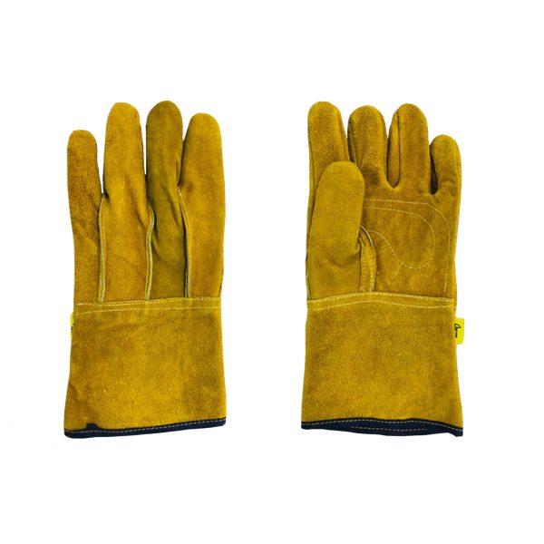 Guante de carnaza de primera, color amarillo, marca Arcos Safety