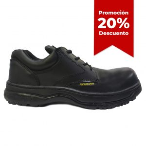 Calzado de seguridad industrial choclo, marca Arcos Safety, modelo 4001, color negro, con 20 porciento de descuento