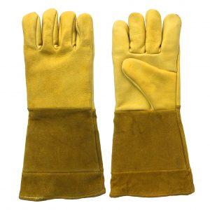 Guante hothand dulcero, marca Arcos Safety, de piel de res nivel 3 y carnaza, color amarillo